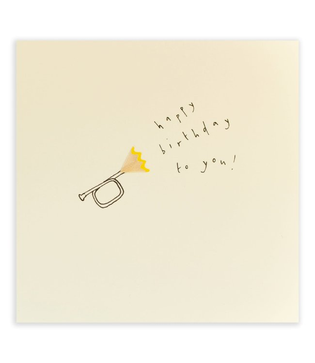Pencil Shavings Cards by Ruth Jackson   Trumpet   Happy Birthday To You!