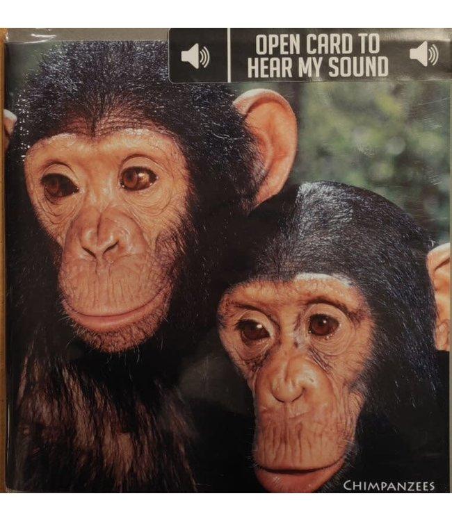 Really Wild Cards | Wenskaart met Geluid | Endangered Wildlife | Chimpansees