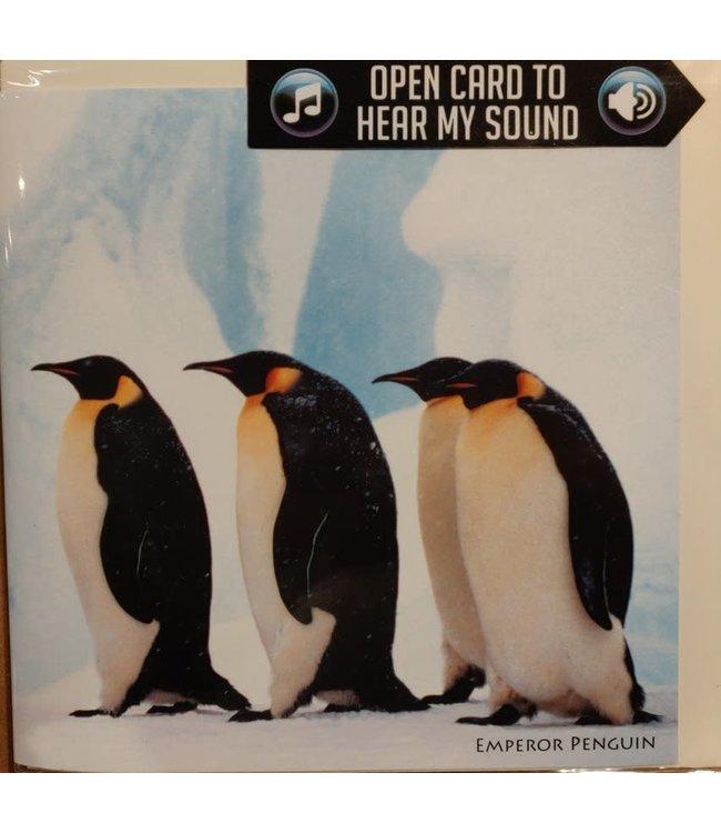 Really Wild Cards | Wenskaart met Geluid | Endangered Wildlife |  Keizers Pinguïn