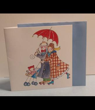 Birgitta cards Birgitta Cards | Dubbele Kaart | Opa en Oma | Onder de Paraplu