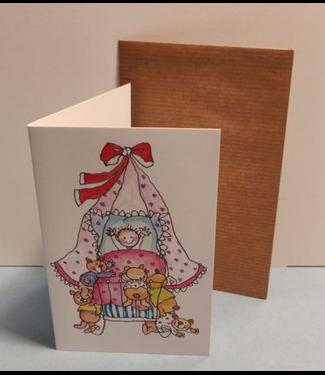 Birgitta cards Birgitta Cards | Dubbele Kaart | Geboorte Kaartje | Heel veel Knuffels