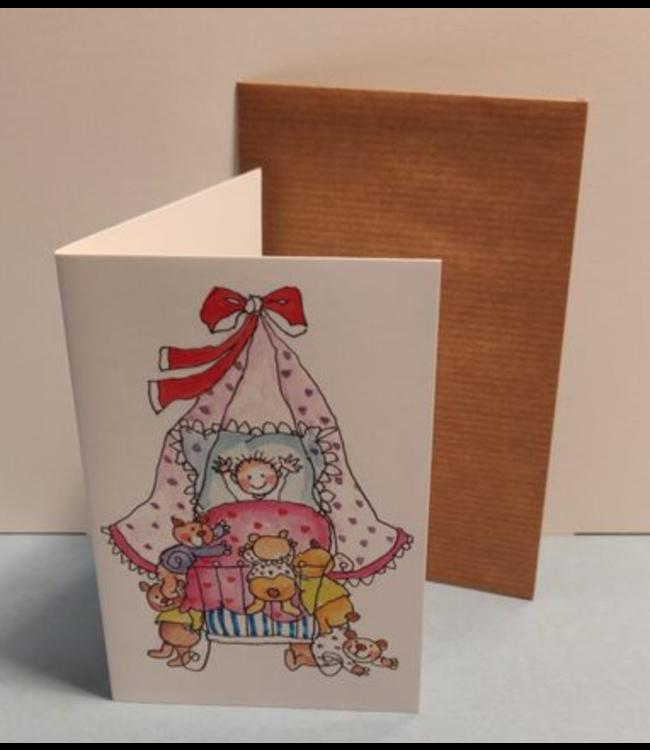 Birgitta Cards | Dubbele Kaart | Geboorte Kaartje | Heel veel Knuffels