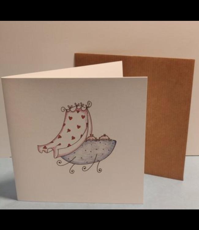 Birgitta Cards | Dubbele Kaart | Geboorte Kaartje | Tweeling | Kiek Kiek, Hier zijn we!
