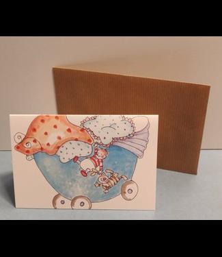 Birgitta cards Birgitta Cards | Dubbele Kaart | Geboorte Kaartje | Baby's Hangout