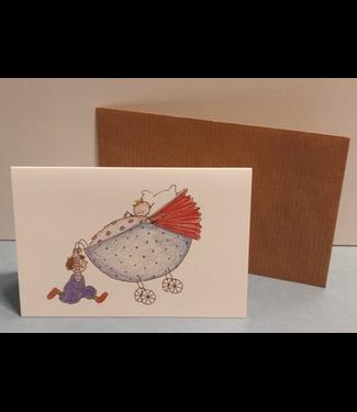 Birgitta cards Birgitta Cards | Dubbele Kaart | Geboorte Kaartje | Baby Lifting