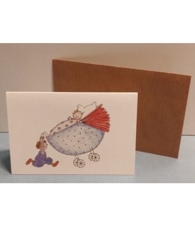 Birgitta Cards | Dubbele Kaart | Geboorte Kaartje | Baby Lifting