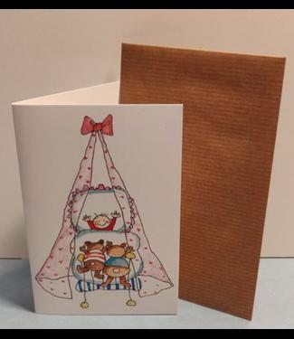 Birgitta cards Birgitta Cards | Dubbele Kaart | Geboorte Kaartje | Beren op Bezoek