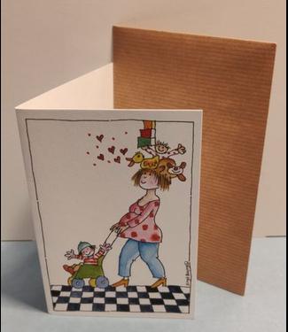 Birgitta cards Birgitta Cards | Dubbele Kaart | Geboorte Kaartje | Mama Houdt het Hoofd Koel