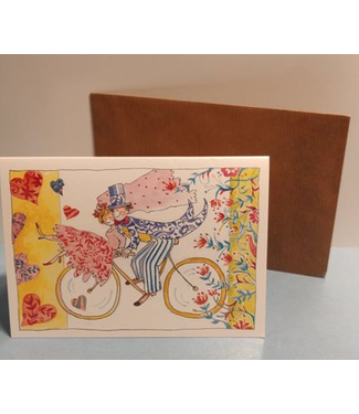 Birgitta cards Birgitta Cards | Dubbele Kaart | Getrouwd | Op de Fiets