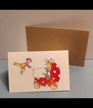 Birgitta cards Birgitta Cards | Dubbele Kaart | Geboorte Kaartje | Tweede Kindje | Flying High