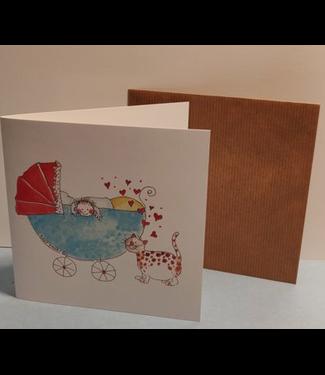 Birgitta cards Birgitta Cards | Dubbele Kaart | Geboorte Kaartje | Lot's of Kitty Love
