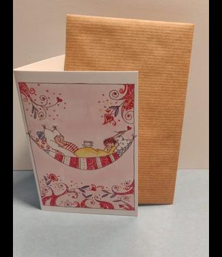 Birgitta cards Birgitta Cards | Dubbele Kaart | In Verwachting | Balanceer Thee