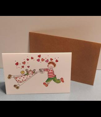 Birgitta cards Birgitta Cards | Dubbele Kaart | Geboorte Kaartje | Tweede Kindje | Lots of Love