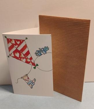 Birgitta cards Birgitta Cards | Dubbele Kaart | Geboorte Kaartje | De Vlieger