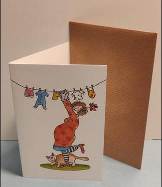 Birgitta cards Birgitta Cards | Dubbele Kaart | In Verwachting | Kleine Wasjes