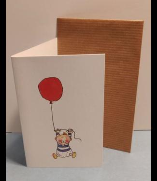 Birgitta cards Birgitta Cards | Dubbele Kaart | Geboorte Kaartje | Rode Ballon 2
