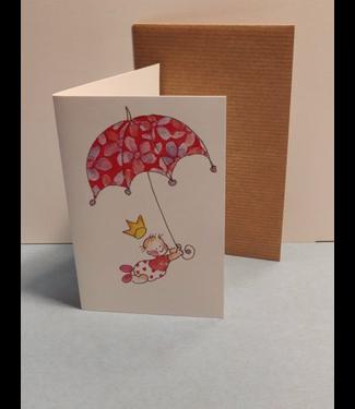 Birgitta cards Birgitta Cards | Dubbele Kaart | Geboorte Kaartje | Bloemen Paraplu