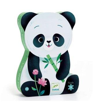 Djeco Djeco   Silhouet Puzzel   Panda   24 stukjes   3+