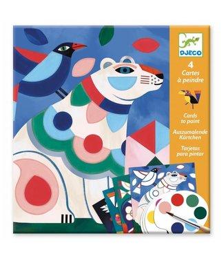 Djeco Djeco   Cards to Paint   Dierenfabels   6-9 jaar