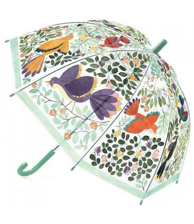 Djeco | Paraplu | 70 cm | Bloemen en Vogels | 3+