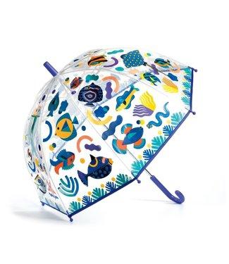 Djeco Djeco | Paraplu 70 cm | Verandert van Kleur in de Regen | Vissen | 3+