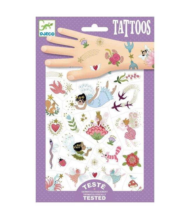 Djeco | Body Art | Tattoos | Feeën en Bloemen | 3+
