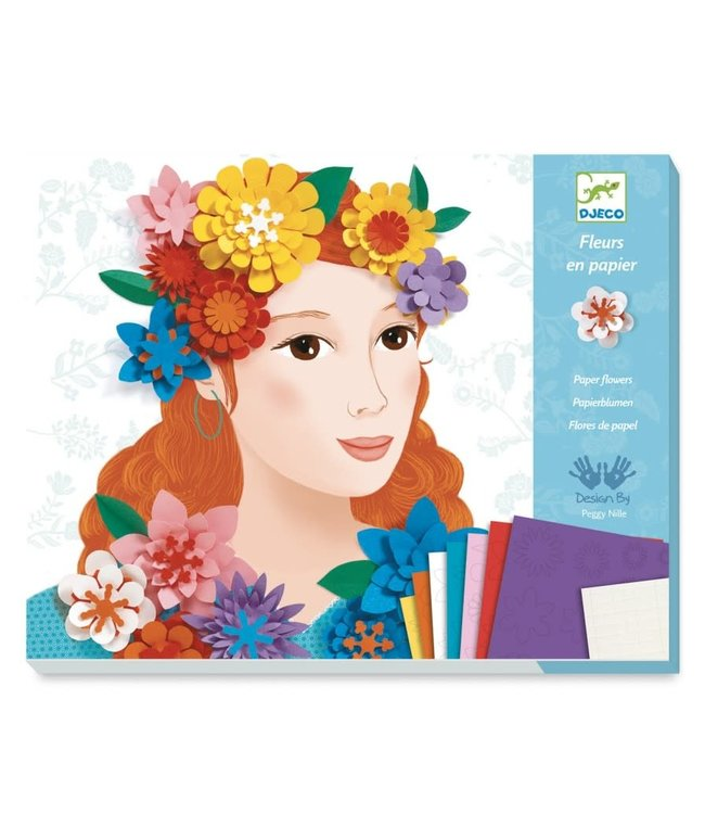 Djeco | Paper Fashions | Young Girl in Flowers | 7-13 jaar