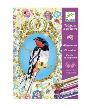 Djeco Djeco | Glitter Schilderijen | Vogels met Glittertjes | 7-13 jaar