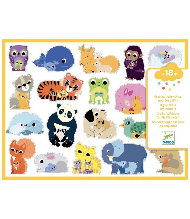 Djeco   Grote Stickers voor Kleintjes   +18 mnd