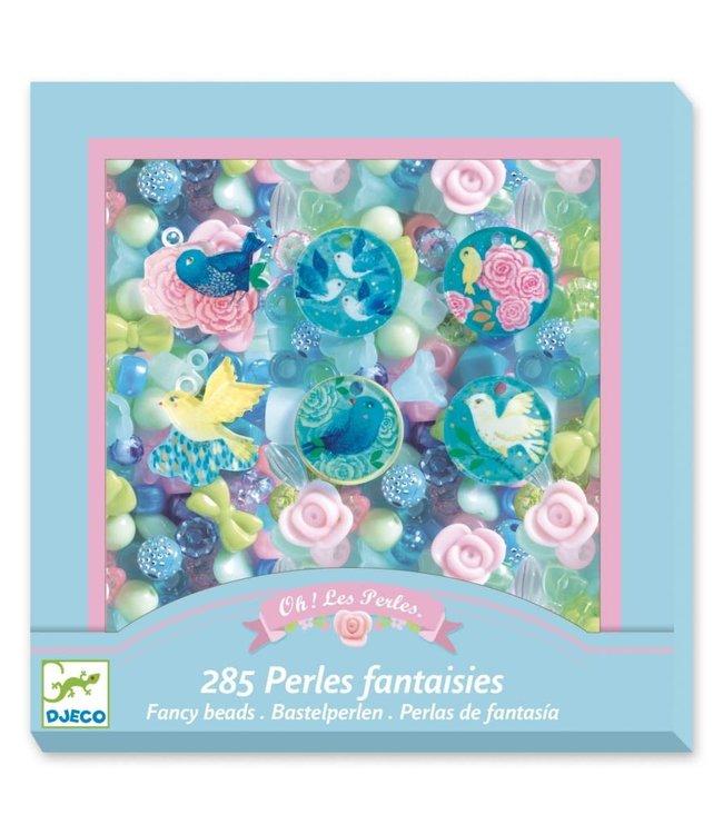 Djeco | Kralen | Fancy Beads | Vogels | 285 delig | 4-8 jaar