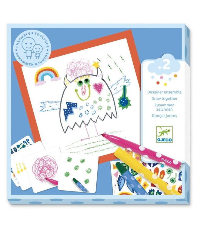 Djeco | Draw Together | Kleine Monsters | 2+