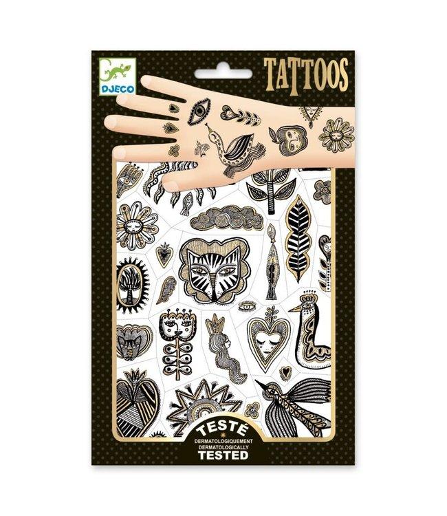 Djeco | Body Art | Tattoos | Metal | Golden Chic | 3+