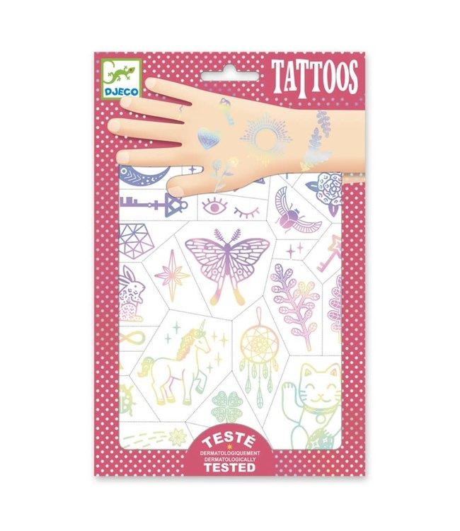 Djeco | Body Art | Tattoos | Iriserend | Lucky Charms | 3+