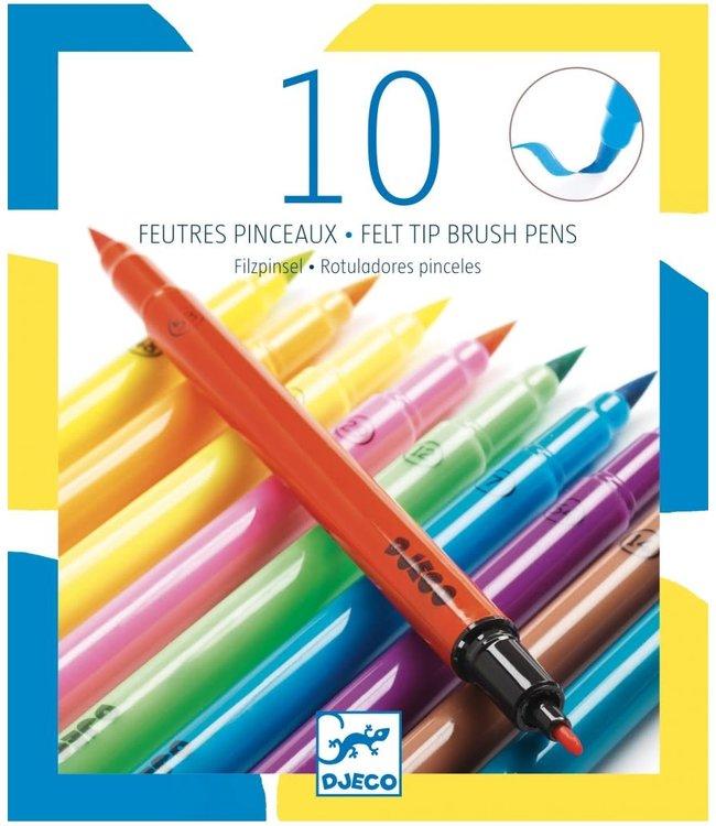 Djeco | Viltstiften | Pop Colours | 10 delig |  6+