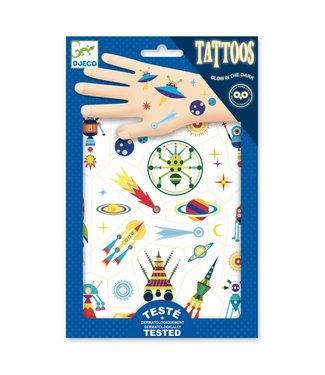 Djeco Djeco | Body Art | Tattoos | Glow in the Dark | Space Oddity | 3+