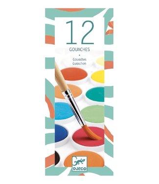 Djeco Djeco | Waterverf | 12 kleuren | Classic | 4+