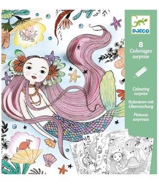 Djeco Djeco | Colouring Surprises | Under the Ocean | 8 delig |  6-9 jaar