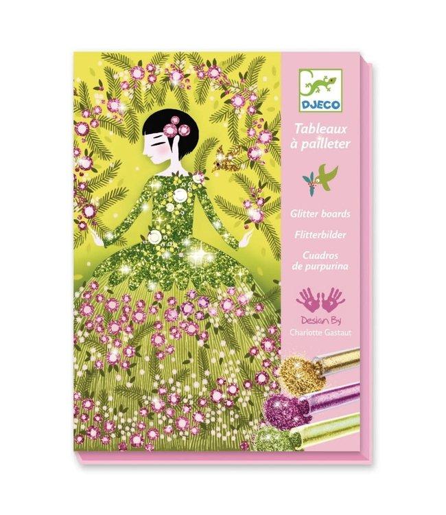 Djeco | Glitter Schilderijen | Glitter Dresses | 7-13 jaar