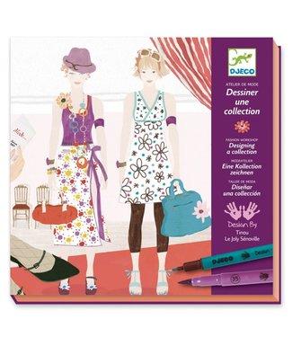 Djeco Djeco | Mode Atelier | Drawing a Fashion Show | 8-14 jaar