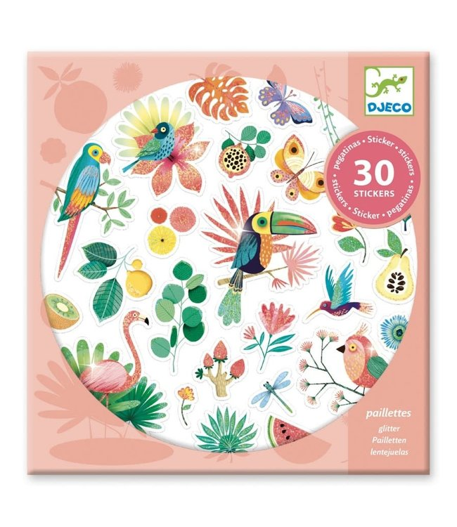 Djeco | Glitter Stickers | Paradise | 30 stuks | 4+