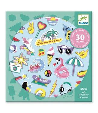 Djeco Djeco | Puffy Stickers | California | 30 pcs | 4+