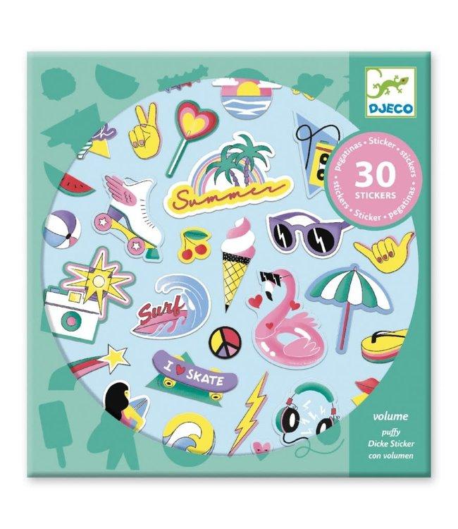 Djeco   Puffy Stickers   California   30 pcs   4+