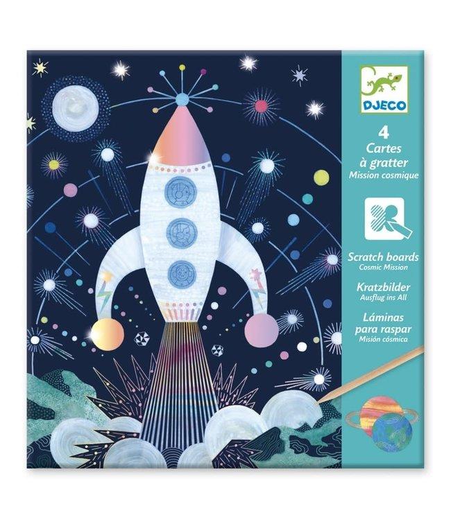 Djeco | Scratch Cards | Holografisch | Cosmic Mission | 6-11 jaar
