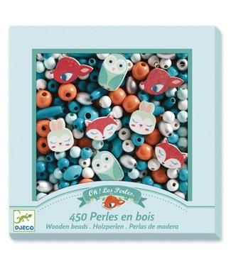 Djeco Djeco | Houten Kralen | Kleine Dieren | 450 stuks | 4 - 8 jaar