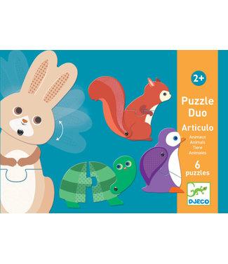 Djeco Djeco | Duo Puzzel | Dieren Articulo | 2+
