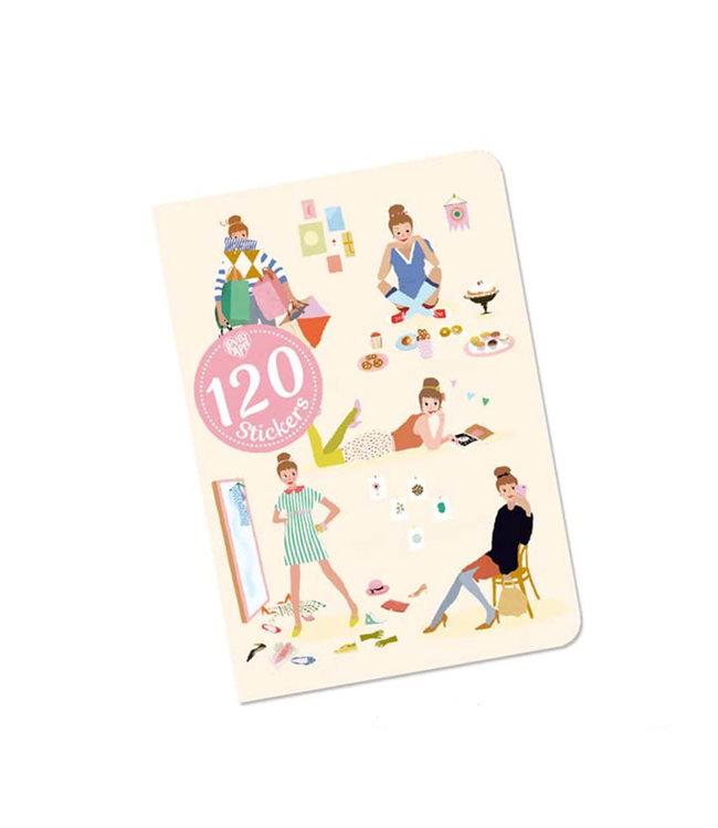 Djeco   Notitieboekje met 120 Stickers   Tinou