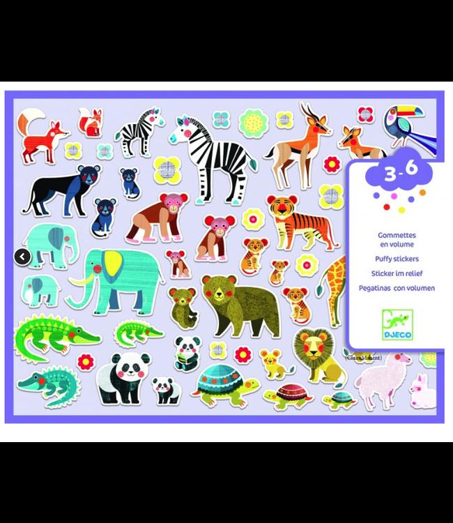 Djeco | 118 Puffy Sticker | Mothers and Babies | 3-6 jaar