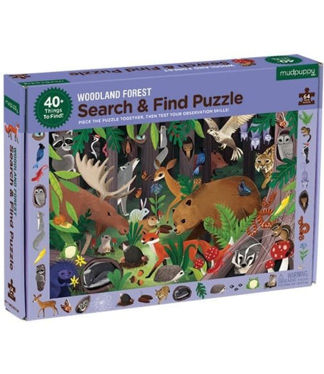 Mudpuppy | Puzzle | Search & Find | Woodland Forest | 64 delig | 4+