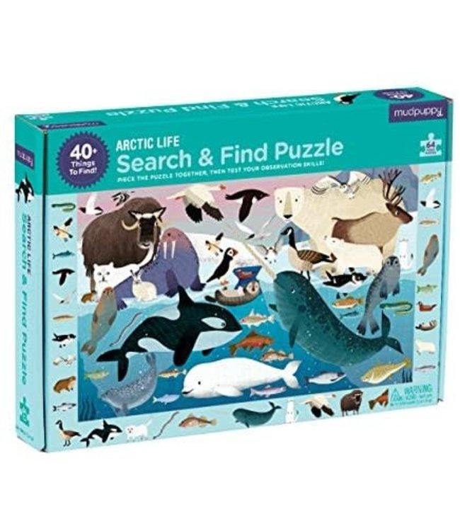 Mudpuppy | Puzzle | Search & Find | Artic Life | 64 delig | 4+