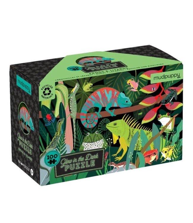 Mudpuppy   Puzzle   Glow in the Dark   Frogs & Lizards   Dinosaurs   100 stukjes   5+